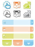 Elementos gráficos para desenhadores do Web Fotos de Stock Royalty Free