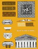 Elementos griegos del diseño Foto de archivo