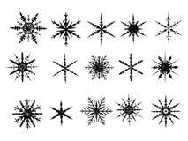 Elementos helados 2 del copo de nieve stock de ilustración