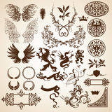 Elementos heráldicos Imágenes de archivo libres de regalías