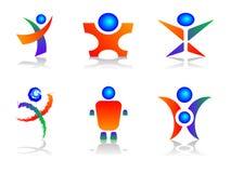 Elementos humanos del diseño de la insignia Fotos de archivo