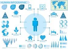 Elementos humanos del gráfico del Info ilustración del vector