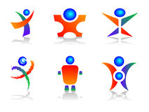 Elementos humanos do projeto do logotipo Fotos de Stock