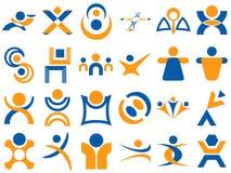 Elementos humanos do projeto do logotipo Imagens de Stock