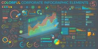 Elementos incorporados coloridos de Infographic Imagem de Stock Royalty Free