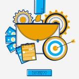 Elementos infographic criativos para o negócio Foto de Stock