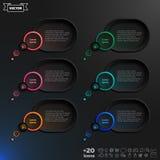 Elementos infographic da bolha do discurso do vetor Imagem de Stock