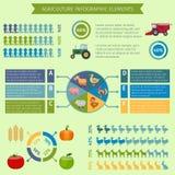Elementos infographic de la agricultura Imagen de archivo libre de regalías