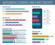 Elementos infographic de la carta de barra Imagenes de archivo