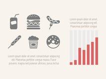 Elementos infographic de la comida Fotos de archivo libres de regalías