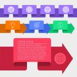 Elementos infographic de la plantilla del vector de la cronología Developm del negocio Imagenes de archivo
