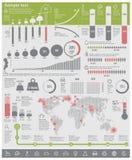 Elementos infographic de los problemas ambientales del vector Imagen de archivo
