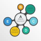 Elementos infographic de Metaball en diseño plano Fotografía de archivo libre de regalías