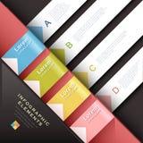 Elementos infographic de papel abstractos 3d Foto de archivo