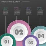 Elementos infographic de papel modernos abstratos da marca de lugar ilustração stock
