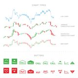 Elementos infographic de troca isolados no fundo branco Fotografia de Stock Royalty Free