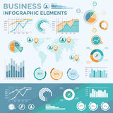 Elementos infographic del asunto Imágenes de archivo libres de regalías
