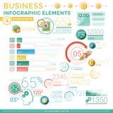 Elementos infographic del asunto Foto de archivo libre de regalías