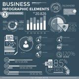 Elementos infographic del asunto Foto de archivo