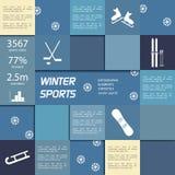 Elementos infographic del vector de los deportes de invierno Fotografía de archivo