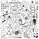 Elementos infographic dibujados mano stock de ilustración