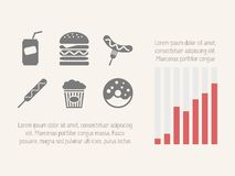 Elementos infographic do alimento Fotos de Stock Royalty Free