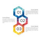 Elementos infographic do baixo hexágono abstrato poli Foto de Stock