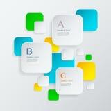 Elementos infographic do cubo abstrato moderno Imagens de Stock Royalty Free