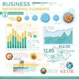 Elementos infographic do negócio Fotografia de Stock Royalty Free