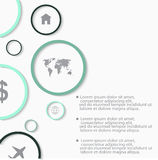 Elementos infographic do sumário moderno do vetor Imagem de Stock