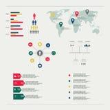 Elementos infographic do sumário moderno do vetor Fotografia de Stock