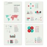 Elementos infographic do sumário moderno do vetor Fotos de Stock