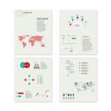 Elementos infographic do sumário moderno do vetor Fotografia de Stock Royalty Free