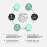 Elementos infographic do sumário moderno do vetor Imagem de Stock Royalty Free