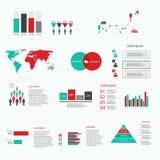 Elementos infographic do sumário moderno do vetor Foto de Stock