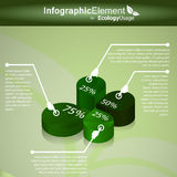 Elementos infographic ecológicos Fotos de archivo libres de regalías