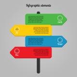 Elementos infographic ecológicos Fotos de Stock Royalty Free