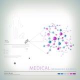 Elementos infographic médicos Imagens de Stock