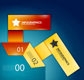 Elementos infographic modernos do projeto: numerado Fotografia de Stock