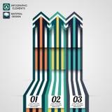 Elementos infographic modernos, flecha del negocio, diseño material Imagenes de archivo