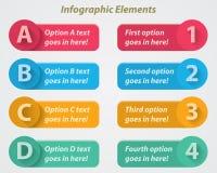 Elementos infographic planos Foto de archivo libre de regalías