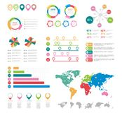 Elementos infographic planos Sistema del vector de los elementos de la carta de la presentación libre illustration