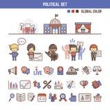 Elementos infographic políticos para los niños Imagen de archivo libre de regalías