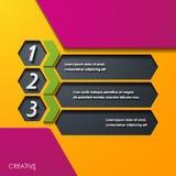Elementos infographic, realísticos modernos do projeto Fotografia de Stock Royalty Free