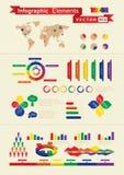 Elementos infographic retros Fotografía de archivo