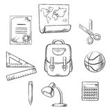Elementos infographic tirados mão da educação Imagens de Stock Royalty Free