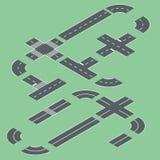 Elementos isométricos da estrada Imagens de Stock
