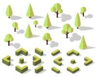 Elementos isométricos das árvores Foto de Stock