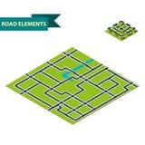 Elementos isométricos del camino Imagenes de archivo