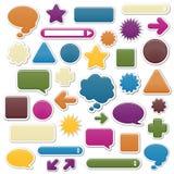 Elementos Jóia-Tonificados, lisos do Web Ilustração Royalty Free